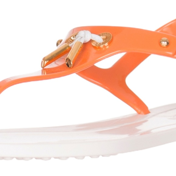 0c0548777 Orange White Plastic Flip Flop Thong Sandals Shoes